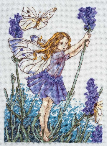 DMC Cross Stitch Kit - Flower Fairies - The Lavender Fairy