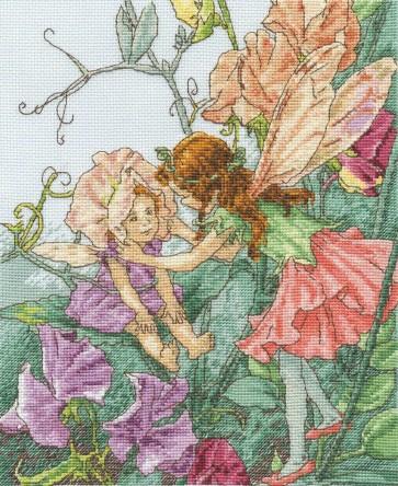 DMC Cross Stitch Kit - Flower Fairies - The Sweet Pea Fairies