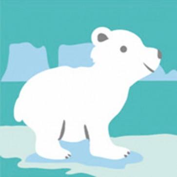 DMC Childrens Tapestry Kit - White Bear Cub - C09N146K
