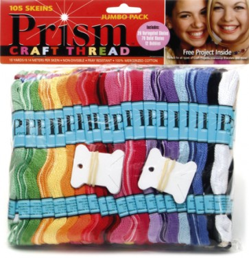 DMC Prism Thread - Jumbo Pack of 105 Craft Thread
