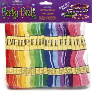 DMC Prism Thread - Party Pack of 105 Craft Thread And 4 Fun Jewellery Projects