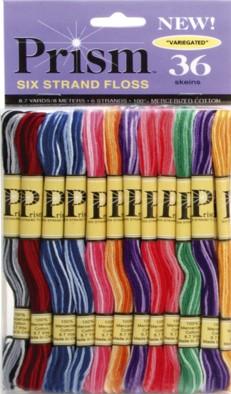 DMC 36 Skein Prism Variegated Pack of Stranded Cottons