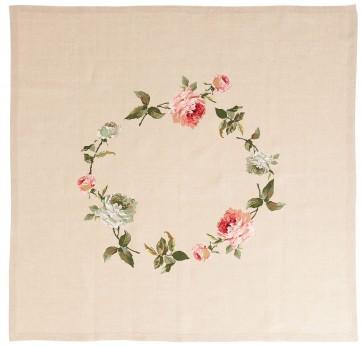 DMC Cross Stitch Kit - Nostalgia - Rose Tablecloth