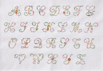 DMC Embroidery Kit - Flower Letter Alphabet
