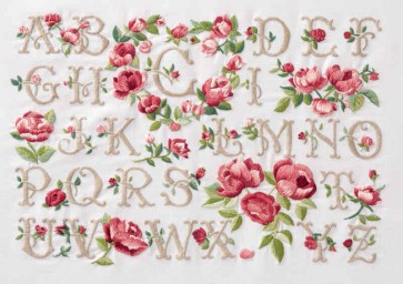 DMC Embroidery Kit - Rose Alphabet - TB021