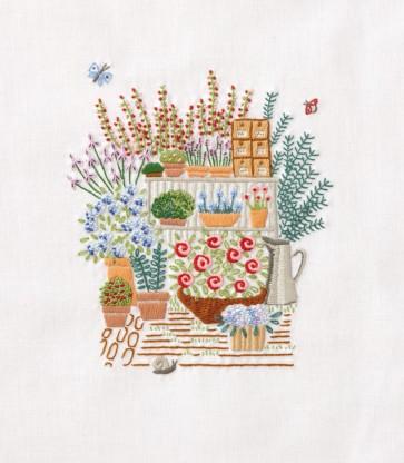 DMC Embroidery Kit - Garden's Corner