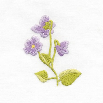DMC Beginners Embroidery Kit - Floral Embroidery - Violet
