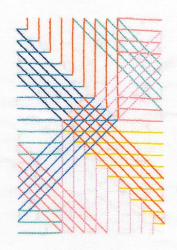 DMC Printed Embroidery Kit - Geometry Rules - Parallel Lines