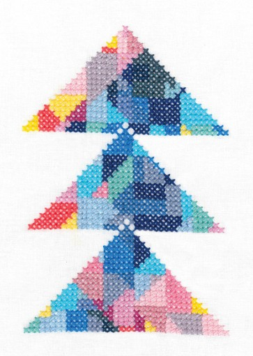 DMC Printed Embroidery Kit - Geometry Rules - Triangulation