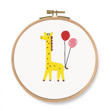 DMC Printed Embroidery Kit - Pet's Party - Which One! Giraffe