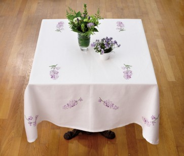 DMC Embroidery Kits - Lilac Tablecloth