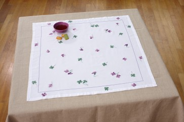 DMC Embroidery Kits - Violet And Clover Tablecloth