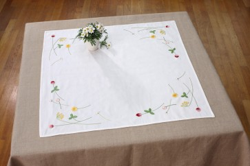 DMC Embroidery Kit - Country Flower Tablecloth - TK050