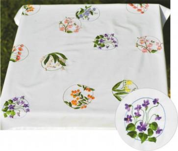 DMC Embroidery Kit - Flowery Tablecloth - TK063
