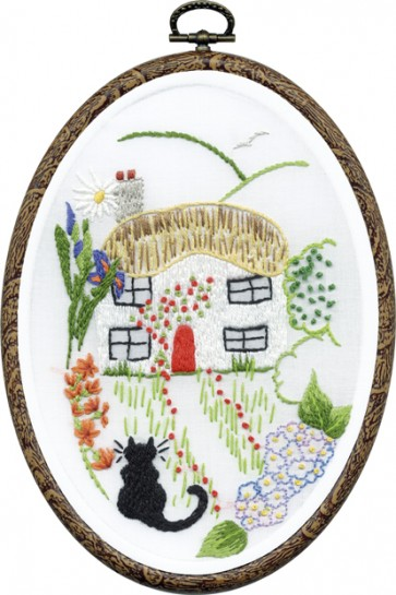 DMC Embroidery Kit - Cat and Cottage