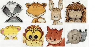 DMC Collectable Woodland Folk Mini Cross Stitch Kits