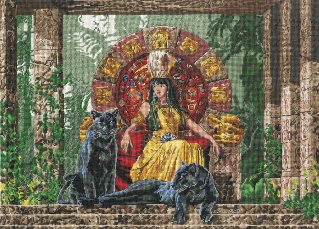 Dmc Cross Stitch Kit Kings And Queens Aztec Queen