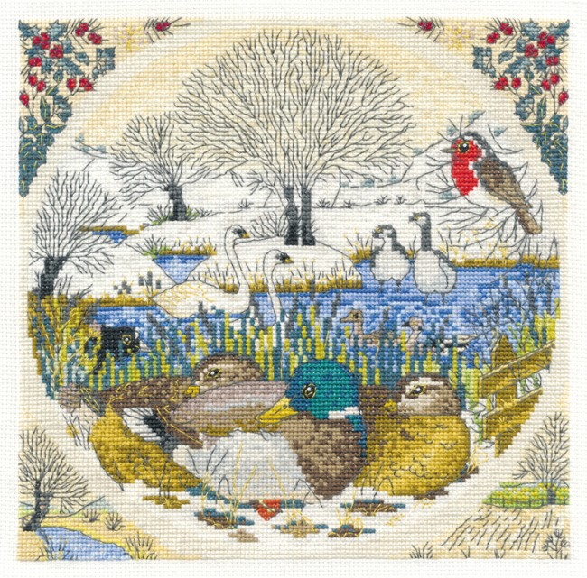 DMC Cross Stitch Kit - Countryside - Winter Watch