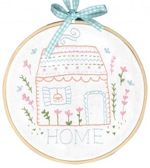 DMC Printed Embroidery Kit - Home Sweet Home