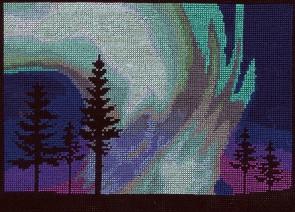 DMC Counted Cross Stitch Kit - Northern Lights