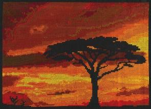 DMC Counted Cross Stitch Kit - Savannah Sunset