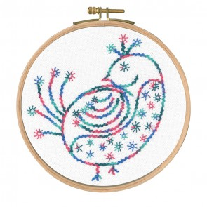 DMC Printed Embroidery Kit - Little Birds - Pretty Coy