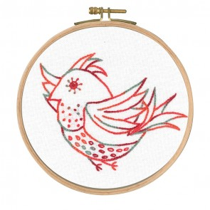DMC Printed Embroidery Kit - Little Birds - Free Spirit