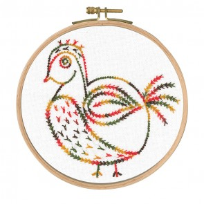 DMC Printed Embroidery Kit - Little Birds - Why Am I Here