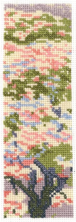 DMC Counted Cross Stitch Kit - Cherry Blossom Bookmark