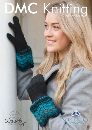 Gloves with Decorative Cuff Knitting Pattern