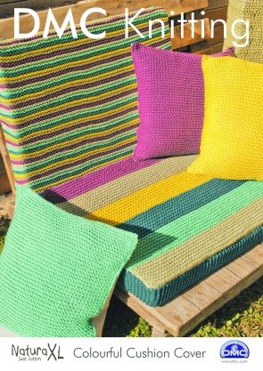 Colourful Cushion Cover Knitting Pattern