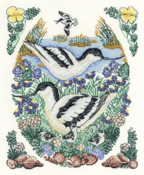 DMC Cross Stitch Kit - Countryside - Avocets