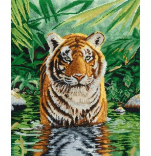 DMC Cross Stitch Kit - Pollyanna Pickering - Tiger Pool