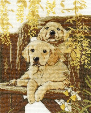 DMC Cross Stitch Kit - Dogs - Breath Of Spring