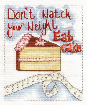 DMC Cross Stitch Kit - Modern - Eat Cake