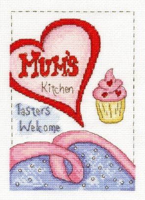 DMC Cross Stitch Kit - Modern - Mum's Kitchen