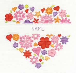 DMC Cross Stitch Kit - Modern - Love Heart
