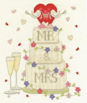 DMC Cross Stitch Kit - Modern - Wedding Congratulations