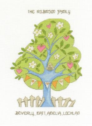 DMC Cross Stitch Kit - Modern - My Family Tree