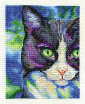 DMC Cross Stitch Kit - Cats - Snowshoe