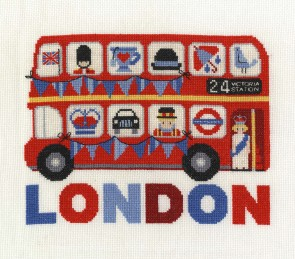 DMC Cross Stitch Kit - London - London Bus