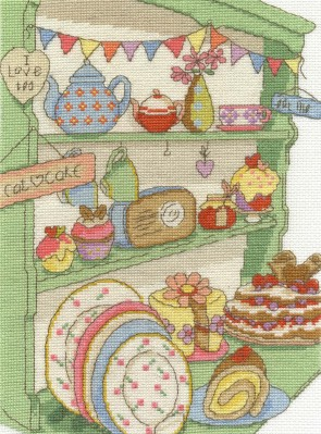 DMC Cross Stitch Kit - Afternoon Tea - I Love Tea and Cake