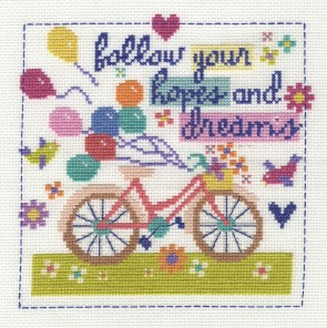 DMC Cross Stitch Kit - Follow Your Hopes and Dreams