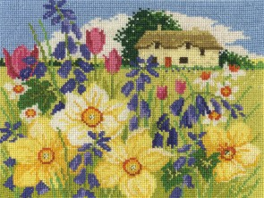 DMC Cross Stitch Kit - Seasonal Landscapes - Spring Bloom