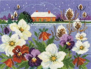DMC Cross Stitch Kit - Seasonal Landscapes - Winter Garden