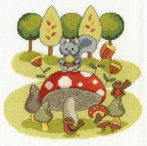 DMC Cross Stitch Kit - The Fabulous Forest - Munchtime