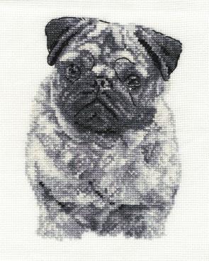 DMC Cross Stitch Kit - Dogs - Pug