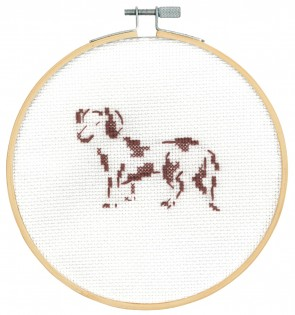 DMC Counted Cross Stitch Kit - Happy Dachshund