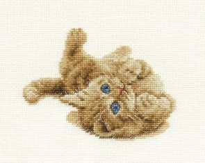 DMC Cross Stitch Kit - Cats - Kitten Playing