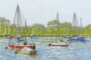 DMC Cross Stitch Kit - Landscapes - Yachts At Oulton Broad